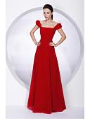 Χαμηλού Κόστους Κορδέλες για πάρτι-Γραμμή Α / Πριγκίπισσα Ώμοι Έξω Μακρύ Σιφόν Φόρεμα Παρανύμφων με Ζώνη / Κορδέλα / Πλισέ με LAN TING BRIDE®