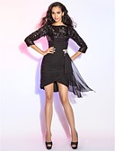 cheap Cocktail Dresses-Sheath / Column Boat Neck / Bateau Neck Short / Mini Chiffon / Sequined Sparkle & Shine Cocktail Party Dress with Ruffles / Ruched by TS Couture®