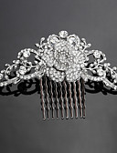 cheap Wedding Veils-Crystal / Fabric / Alloy Tiaras / Hair Combs with 1 Wedding / Special Occasion / Party / Evening Headpiece