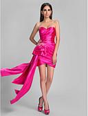 preiswerte Cocktailkleider-Eng anliegend Sweetheart Asymmetrisch Stretch - Satin Offener Rücken Cocktailparty Kleid mit Perlenstickerei / Überkreuzte Rüschen / Quaste durch TS Couture®