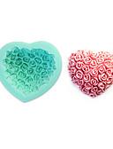 tanie Suknie i sukienki damskie-3d rose miłość serca silcone ciasto formy kremówki czekoladowe formy
