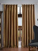 preiswerte Brautjungfernkleider-Schlaufen für Gardinenstange Ösen Schlaufen Zweifach gefaltet zwei Panele Window Treatment Neoklassisch, Geprägt Solide 100% Polyester