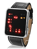 abordables Relojes Deportivo-Hombre Reloj de Pulsera Calendario / LED / Cool PU Banda Casual Negro