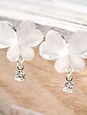 preiswerte Hemd-Damen Synthetischer Diamant Tropfen-Ohrringe Strass Ohrringe Schmetterling Tier Billig damas Einzigartiges Design Simple Style Schmuck Weiß Für Party Alltag