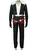 """billige T-skjorter og singleter til herrer-Inspirert av Final Fantasy Squall Leonhart video Spill  """"Cosplay-kostymer"""" Cosplay Klær Ensfarget Langermet Frakk / Bukser / Belte Halloween-kostymer"""