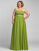 povoljno Maturalne haljine-A-kroj Srcoliki izrez Do poda Šifon Prom / Formalna večer Haljina s Perlica / Falte po TS Couture®