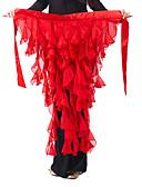 povoljno Odjeća za trbušni ples-Trbušni ples Pojas Žene Šifon S volanima Trbušni ples Hip Šal / Balska sala