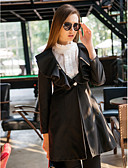 preiswerte Kleider-Damen - Solide Mantel Rüsche / Winter