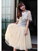 cheap Women's Pants-Women's Mesh Layer Midi Skirt