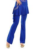 hesapli Caz Dansı Giysileri-Göbek Dansı Alt Giyimler Kadın's Eğitim Kristal Pamuk Drape Pantalonlar