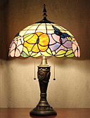 billige Sexet dametøj-Sommerfugle Mønster bordlampe, 2 lys, Tiffany Resin Glas Maleri