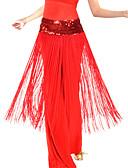 hesapli Göbek Dansı Giysileri-Göbek Dansı Kemer Kadın's Eğitim Polyester Püsküllü Doğal / Balo Salonu