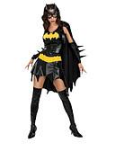 billige Lange brudepikekjoler-Secret Wishes Sexy Batgirl Svart PU skinn kvinner Costume