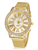 cheap Fashion Watches-Women's Wrist Watch Rhinestone / Imitation Diamond Alloy Band Flower / Sparkle / Fashion Gold / One Year / SSUO LR626