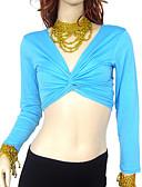 Χαμηλού Κόστους Ρούχα χορού της κοιλιάς-Χορός της κοιλιάς Μπλούζες Γυναικεία Εκπαίδευση Βαμβάκι Μακρυμάνικο / Αίθουσα χορού
