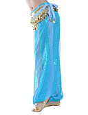 ieftine Ținută Dans din Buric-Dans din Buric Pantaloni Pentru femei Antrenament Șifon Paiete Natural Pantaloni / Sală de bal
