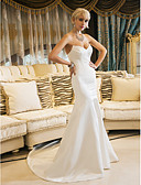 cheap Wedding Dresses-Mermaid / Trumpet Sweetheart Court Train Satin Custom Wedding Dresses with by LAN TING BRIDE®