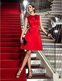 preiswerte Cocktailkleider-A-Linie Schmuck Knie-Länge Satin Cocktailparty Kleid mit Perlenstickerei / Applikationen durch TS Couture®