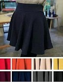 cheap Women's Skirts-Women's A Line Skirts - Solid Colored Pleated / Mini