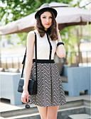 ieftine Rochii Damă-TS Simplitate Contrast culoare rever Dress