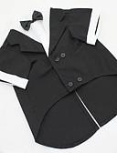 זול חליפות-כלב תחפושות חליפת ערב בגדים לכלבים אחיד שחור אפור כותנה תחפושות עבור חיות מחמד בגדי ריקוד גברים קוספליי חתונה