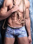 זול חליפת גוף-בגדי ריקוד גברים דפוס סופר סקסי מכנסוני בוקסר חלק 1