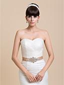 Χαμηλού Κόστους Κορδέλες για πάρτι-Σατέν Γάμου / Πάρτι / Βράδυ Ζώνη Με Τεχνητό διαμάντι Γυναικεία Ζώνες για Φορέματα