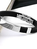 cheap Men's Shirts-Men's Stainless Steel Cuff Bracelet - Personalized Fashion Circle Black Bracelet For Daily Casual Sports