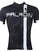 Χαμηλού Κόστους Ρούχα χορού της κοιλιάς-ILPALADINO Ανδρικά Κοντομάνικο Φανέλα ποδηλασίας Ριγέ Patchwork Γράμμα & Αριθμός Ποδήλατο Αθλητική μπλούζα Μπολύζες, Αναπνέει Γρήγορο Στέγνωμα Υπεριώδης Αντίσταση 100% Πολυέστερ
