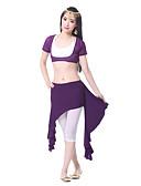 hesapli Göbek Dansı Giysileri-Göbek Dansı Etek Kadın's Eğitim Şifon Saten Drape Etek