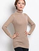 voordelige Bovenkleding voor dames-Dames Coltrui Lange mouw Lang Pullover Effen