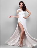 hesapli Gece Elbiseleri-Sütun sapanlar Yere Kadar Jarse Ayrık Ön ile Balo / Resmi Akşam / Askeri Balo Elbise tarafından TS Couture®