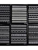 olcso Férfi pólók és pulóverek-6 pcs 3D-s körömmatricák Csipke matricák köröm művészet manikűr Pedikűr Szeretetreméltő Esküvő / Divat Napi / Csipke matrica / 3D-s körömáblák