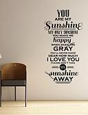 preiswerte Herren Unterwäsche & Socken-Abstrakt Romantik Mode Worte & Zitate Fantasie Wand-Sticker Flugzeug-Wand Sticker Dekorative Wand Sticker, Vinyl Haus Dekoration