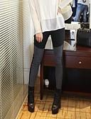 baratos Leggings para Mulheres-Mulheres Com Rasgos Legging - Quadrados Cintura Média