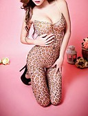 cheap Women's Nightwear-Women's Teddy Nightwear - Print, Leopard