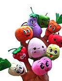 hesapli Gelinlikler-Gülen yüz Meyve Parmak Kuklalar Kuklalar Tatlı Prop Prophet Sevimli Yenilikçi Karikatür Tekstil Peluş Genç Kız Hediye 10pcs