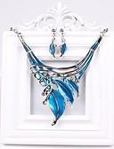 cheap Women's Belt-Women's Jewelry Set Earrings / Necklace - Party / European / Fashion Green / Blue / Rainbow Jewelry Set For