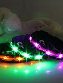 halpa Muu tapaus-Kissa Koira Kaulapannat LED valot Sarjakuvamalli Nylon Vihreä Sininen Pinkki