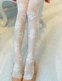 billige Sokker og strømper til damer-kvinners tynne pantyhose-solid jacquard, print