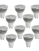 رخيصةأون زينة الكيك-10pcs 4 W 350-400 lm GU10 LED ضوء سبوت 4 الخرز LED طاقة عالية LED أبيض دافئ / أبيض كول / أبيض طبيعي 85-265 V / 10 قطع / بنفايات