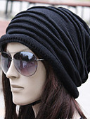 cheap Fashion Hats-Unisex Work Active Cotton Beanie / Slouchy - Solid Colored Pleated