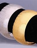 baratos Relógios da Moda-Mulheres Pulseiras Algema - Pedaço de Platina, Chapeado Dourado senhoras Pulseiras Jóias Prata / Dourado Para Casamento Festa Diário Casual Esportes