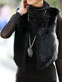 cheap Women's Fur & Faux Fur Coats-Women's Club Vintage Fur Coat V Neck Winter Black Faux Fur