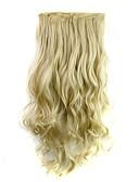 ieftine Jachete-Extensii din Păr Natural Buclat Clasic Extensie de păr Agață În / Pe Blond Zilnic
