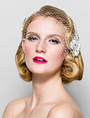 cheap Wedding Veils-Crystal / Fabric Tiaras / Birdcage Veils with 1 Wedding / Special Occasion / Party / Evening Headpiece