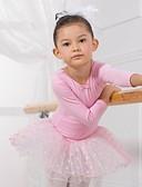 billige Dansetøj til børn-Ballet Kjoler / Kjoler & Nederdele / Tutus Bomuld Langærmet / Opvisning