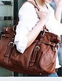 preiswerte Damen Leggings-Damen Taschen Leder Tragetasche Zeichen Braun