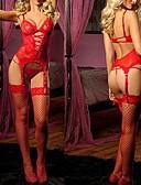 preiswerte Socken & Strumpfwaren-Uniformen Cosplay Kostüme Unterwäsche Pyjamas Fest / Feiertage Halloween Kostüme Austattungen Rot / Rosa Hohl