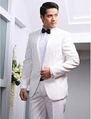 お買い得  タキシード-タキシード スリムフィット スタンダードフィット カラー ピークドラペル ショールカラー 1つボタン シングルブレスト 一つボタン コットン ポリエステル ウール&ポリエステルブレンド ソリッド ファッション